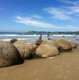 The famous Moeraki Boulders - image supplied by Tourism Waitaki