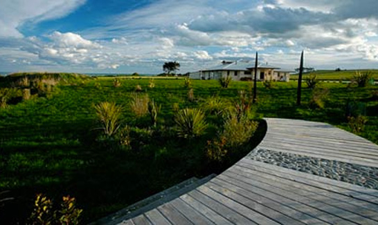 The walkway to Old Bones Lodge, Oamaru